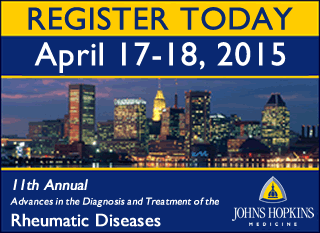 Register for the 2015 Rheumatology Course at Johns Hopkins